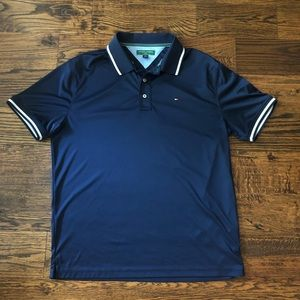 Tommy Hilfiger Golf Navy Logo Polo sz L EUC